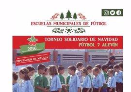 Unas 36 escuelas de fútbol juegan el Torneo solidario de Navidad de Diputación de Málaga