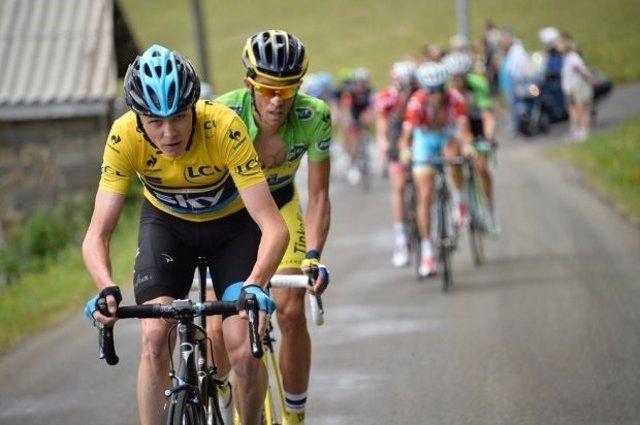 Froome y Contador en el Criterium Dauphine