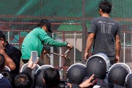 La Policía tailandesa cancela una redada en un templo budista