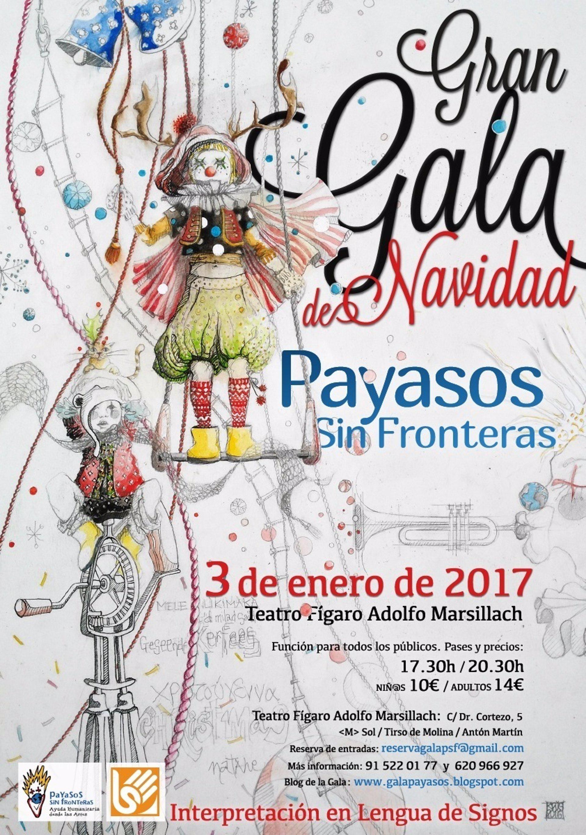 La gran gala de navidad de payasos sin fronteras llega a for Teatro figaro adolfo marsillach