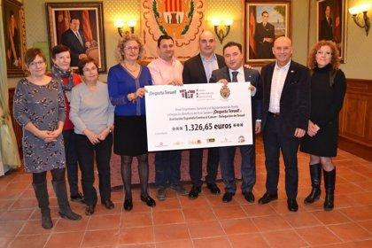 Alcañiz y Teruel Empresarios Turísticos donan más de 1.300 euros