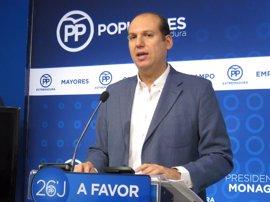 El PP calcula que Extremadura cerrará 2016 con el triple del déficit permitido