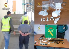 La Guardia Civil detiene a un matrimonio presuntamente responsable de un punto de venta de droga en La Tercia