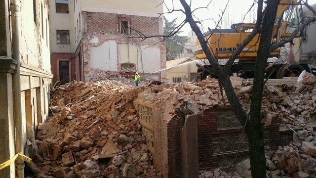 Demolición del taller de artillería