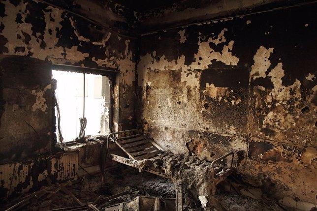 Habitación del hospital de Kunduz atacado en octub