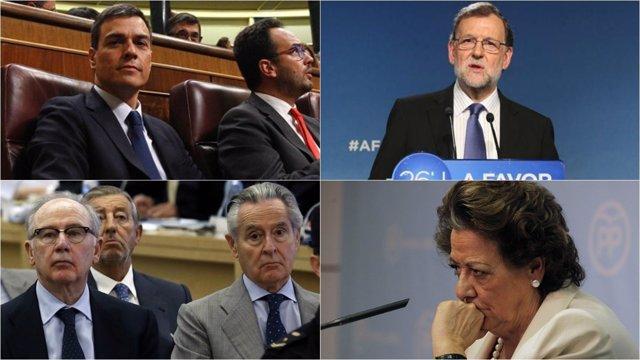 Montaje de las 10 noticias que marcaron a España en 2016