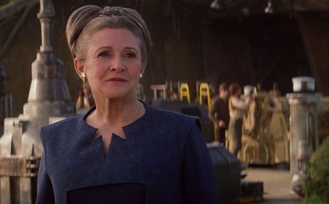 Carrie Fisher como Leia Organa en Star Wars: El Despertar de la Fuerza