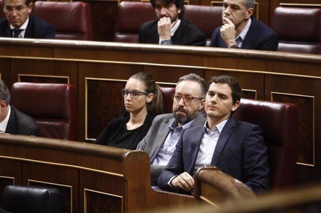 Albert Rivera y Juan Carlos Girauta en el Congreso