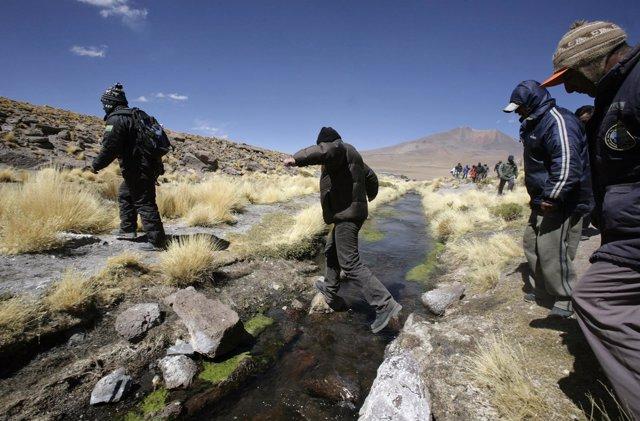 Río Silala, junto a la frontera de Chile y Bolivia