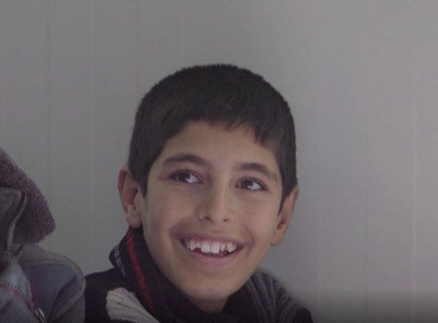 Mohammed, un niño desplazado iraquí