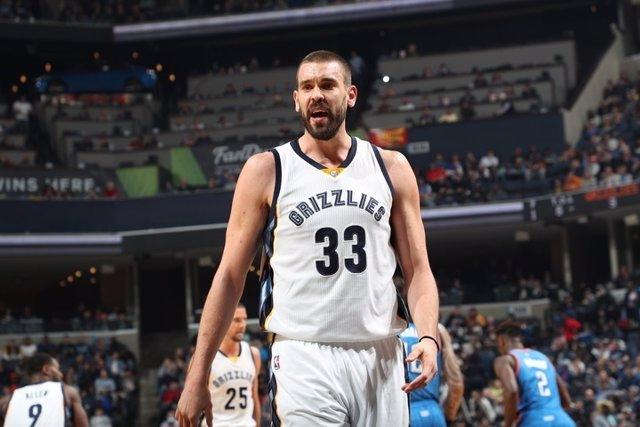 Marc Gasol en el Memphis Grizzlies - Oklahoma City Thunder
