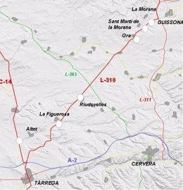 Mapa de la carretera L-310