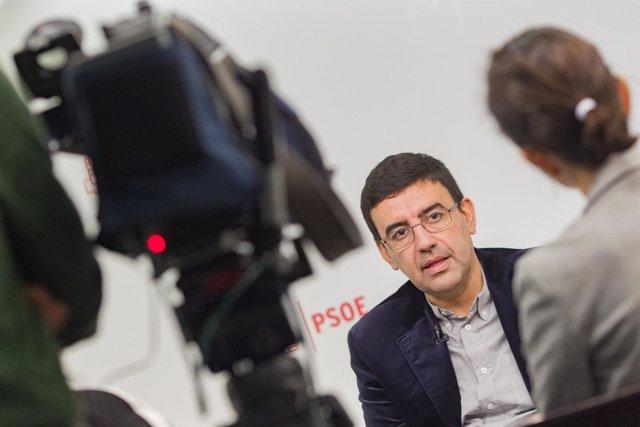 Entrevista de Europa Press a Mario Jiménez, portavoz de la Gestora del PSOE