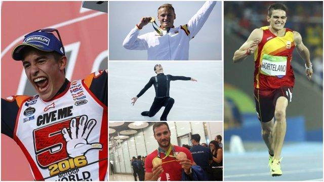 Triunfadores del deportes español en 2016