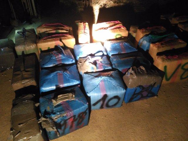 Droga incautada en la operación banderillero en Conil