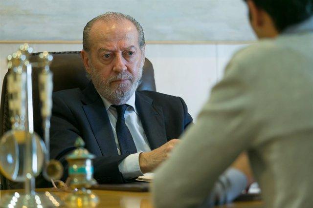 Villalobos durante la entrevista.