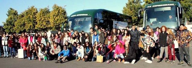Menores participantes en el campamento