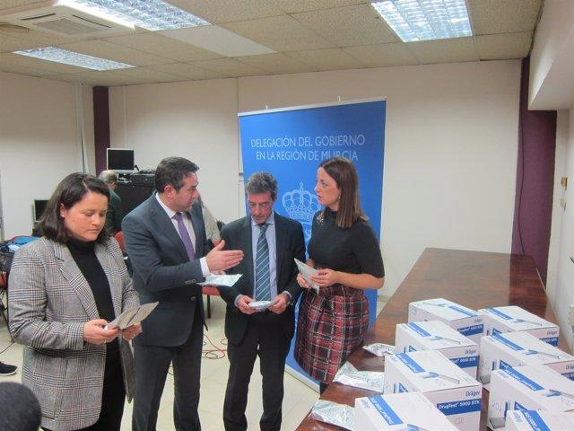 Lola Sánchez, Joaquín Buendía, Antonio Sánchez Solís y Virginia Jerez