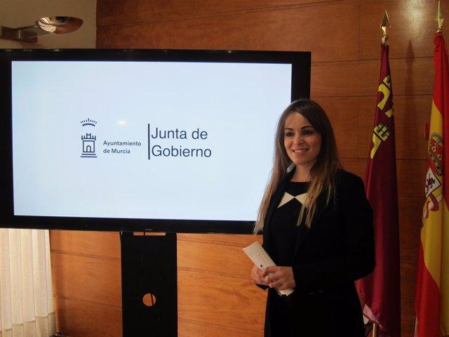 Rebeca Pérez, en la rueda de prensa