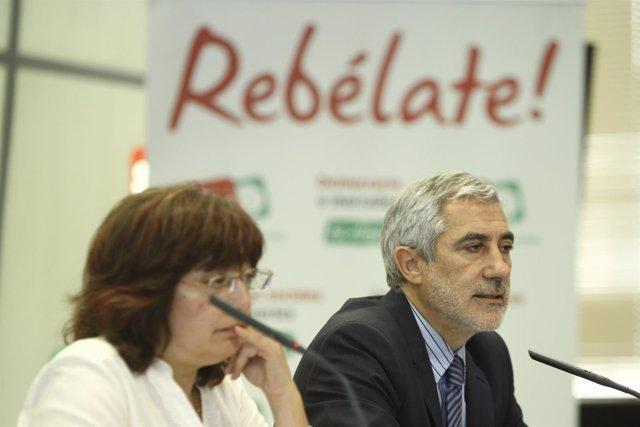 Gaspar Llamazares y Montserrat Muñoz