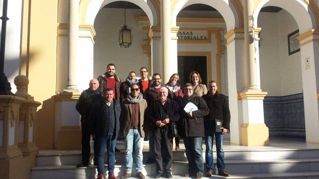 Representantes de la Asociación de Memoria Histórica en La Palma