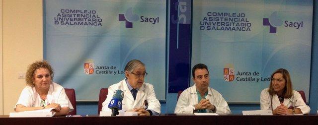 Rueda de prensa del Hospital Clínico de Salamanca