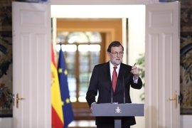 """Rajoy pide que en Cataluña """"no se den más pasos en la mala dirección"""" y reitera: no se puede celebrar un referéndum"""