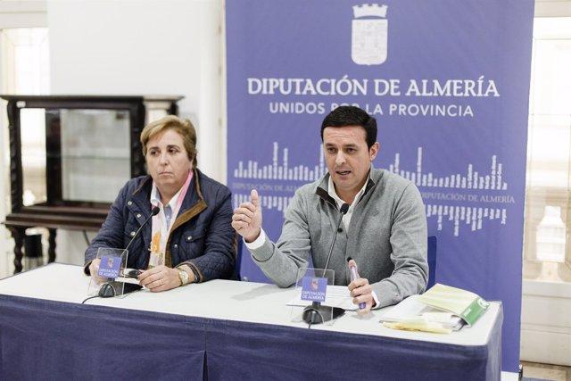 La diputada provincial Isabel Belmonte y el vicepresidente, Javier A. García