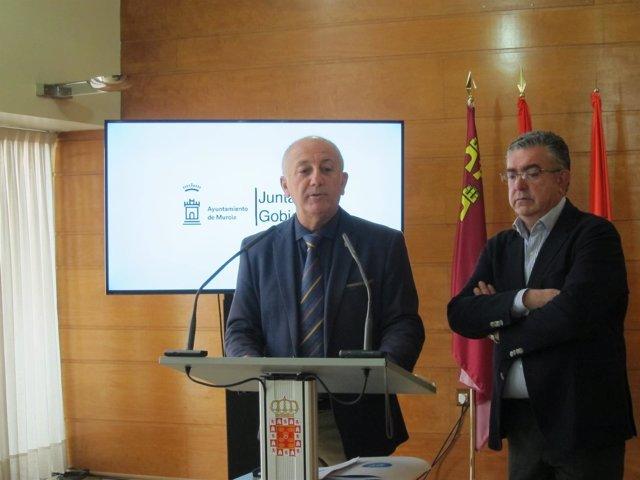 Roque Ortíz y José Albadalejo en rueda de prensa