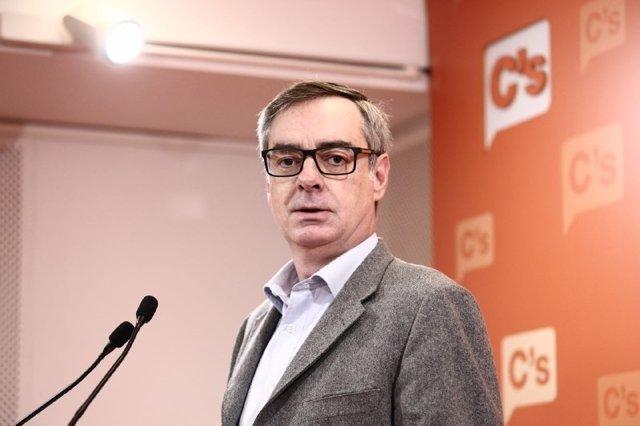 El vicesecretario de Ciudadanos, José Manuel Villegas, en la sede de Barcelona