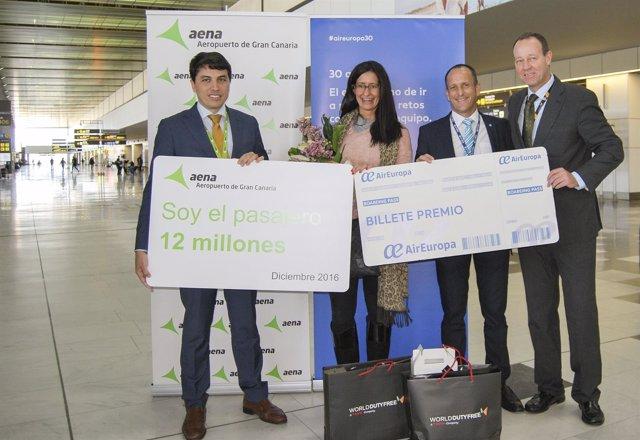 Pasajera 12 millones del Aeropuerto de Gran Canaria en 2016