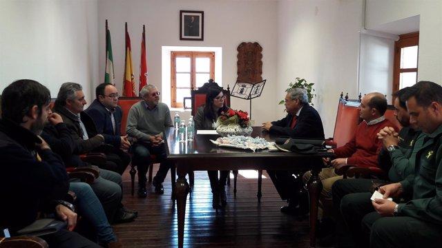 Reunión del subdelegado y alcaldes de La Alpujarra
