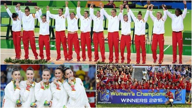 Equipos femeninos triunfadores en 2016