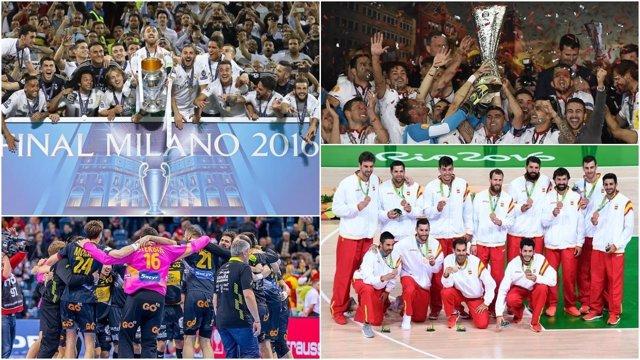 Equipos triunfadores del deporte español en 2016