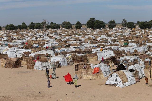 Campamento de desplazados internos en Maidiguri (Nigeria)