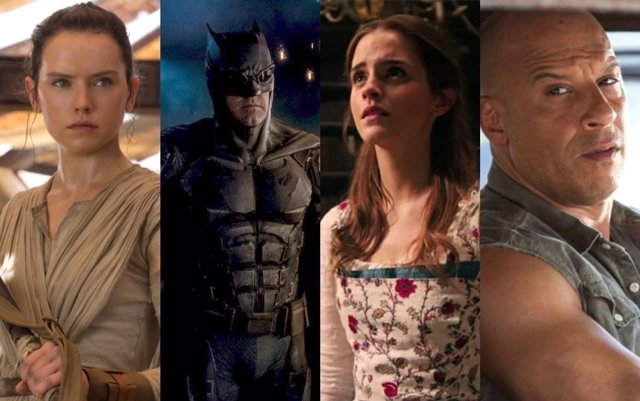 Star Wars, Batman, Bella y Bestia, Fast 8