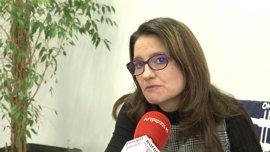 """Oltra destaca la solvencia del Consell aunque lamenta que sigan """"saltando sapos de los cajones"""" como herencia del PP"""