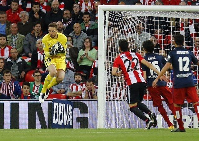 Jan Oblak en el Athletic - Atlético Madrid