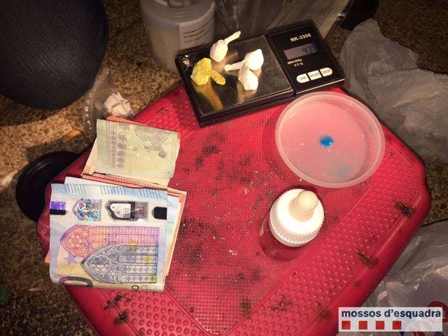 Cocaína decomisada en Badalona