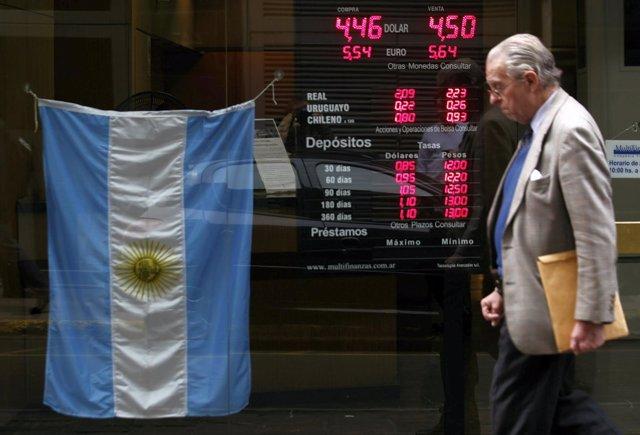 Banco en Buenos Aires (Argentina), divisas