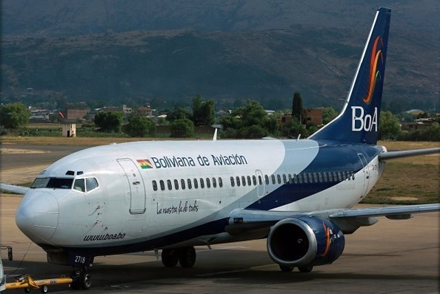 Avión Bolivia