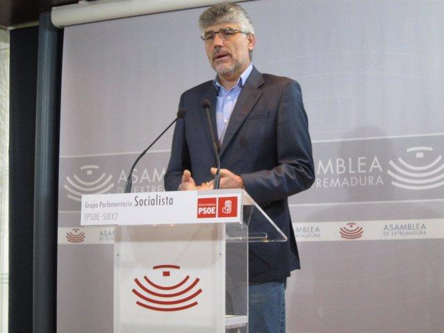 Valentín García en su comparecencia