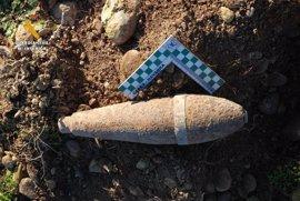 La Guardia Civil encuentra en Navarra una granada de mortero y un proyectil de artillería