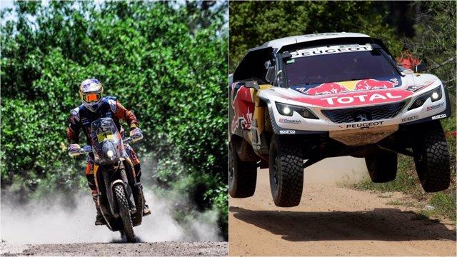 Price y Loeb en el Dakar 2017