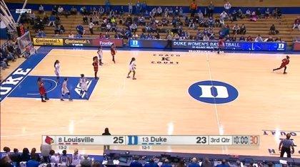 Ridículo en la liga universitaria femenina de baloncesto americana: ¡defendieron el campo equivocado!