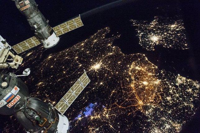 Europa Occidental, desde la Estación Espacial