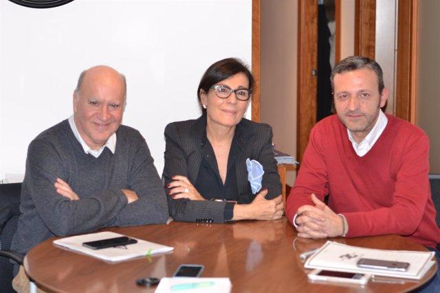 Fernando Martín Adúriz, Concha Hervella y Miguel Ángel Paniagua, miembros de la