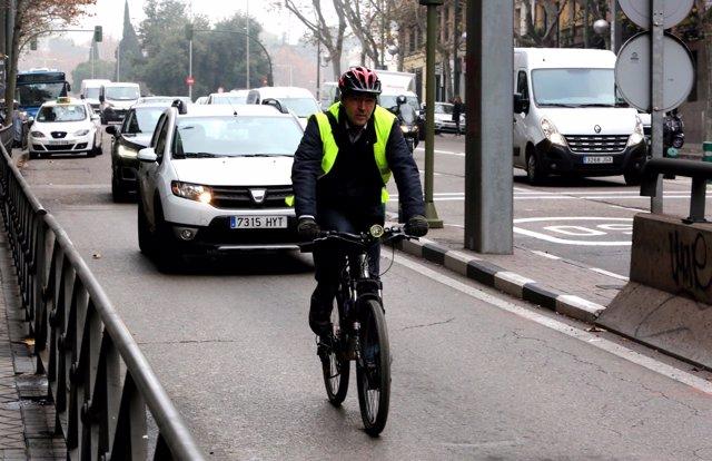 Bicicleta, bicicletas, Madrid, tráfico, circulación