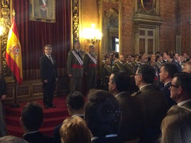 Álvarez Espejo, Presidiendo La Pascua Militar