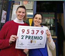 Loterías Cristina da un décimo del segundo premio